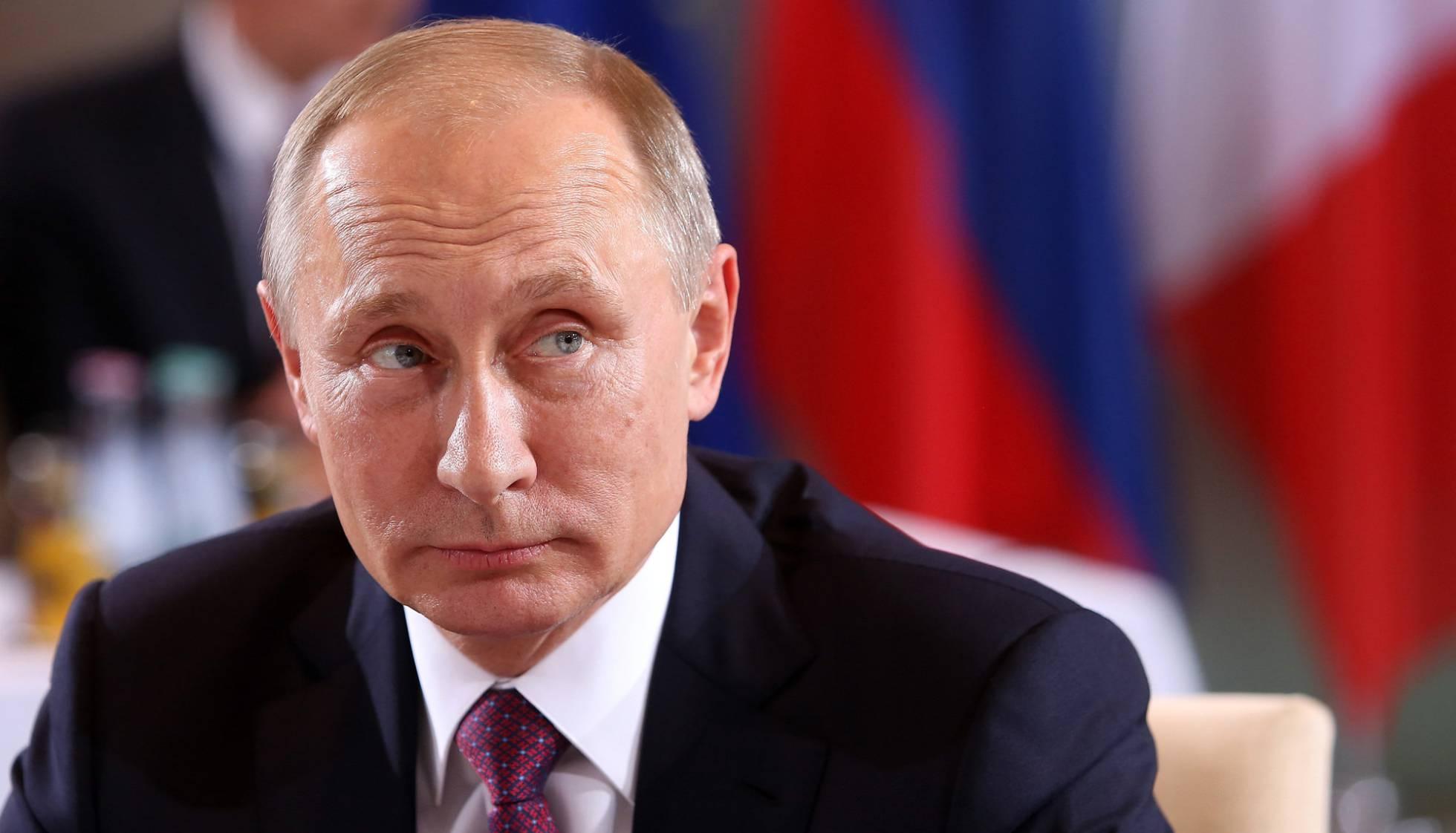 El presidente ruso, Vladímir Putin, este miércoles en Berlín. ADAM BERRY (GETTY IMAGES)