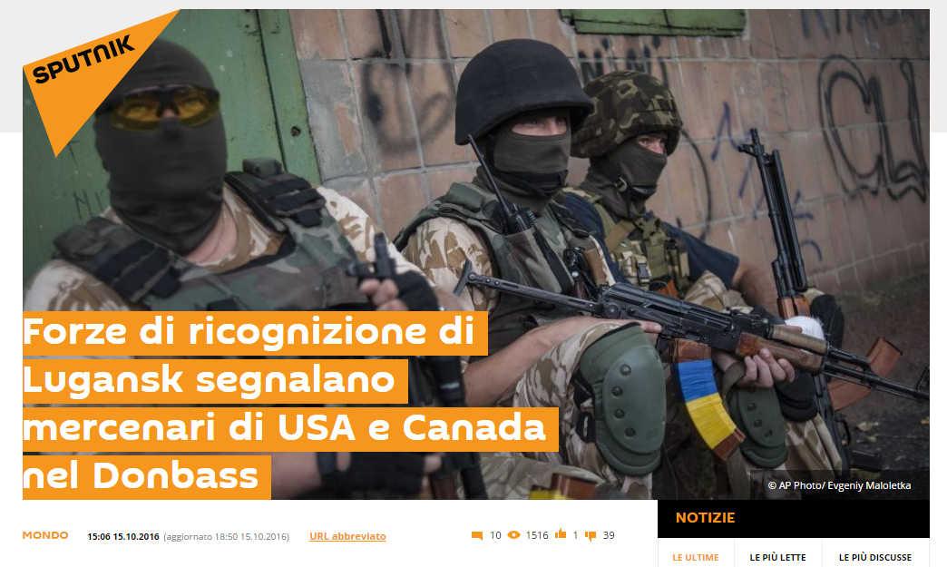 Mercenari americani in Donbas