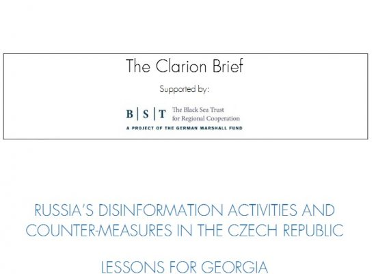 Russia's disinformation activities and counter-measures in the Czech republic lessons for Georgia