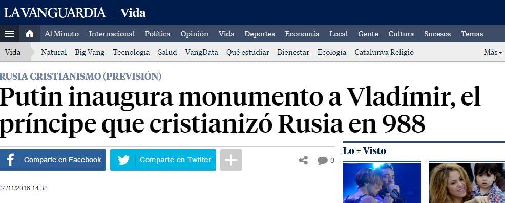 Captura de pantalla de La Vanguardia
