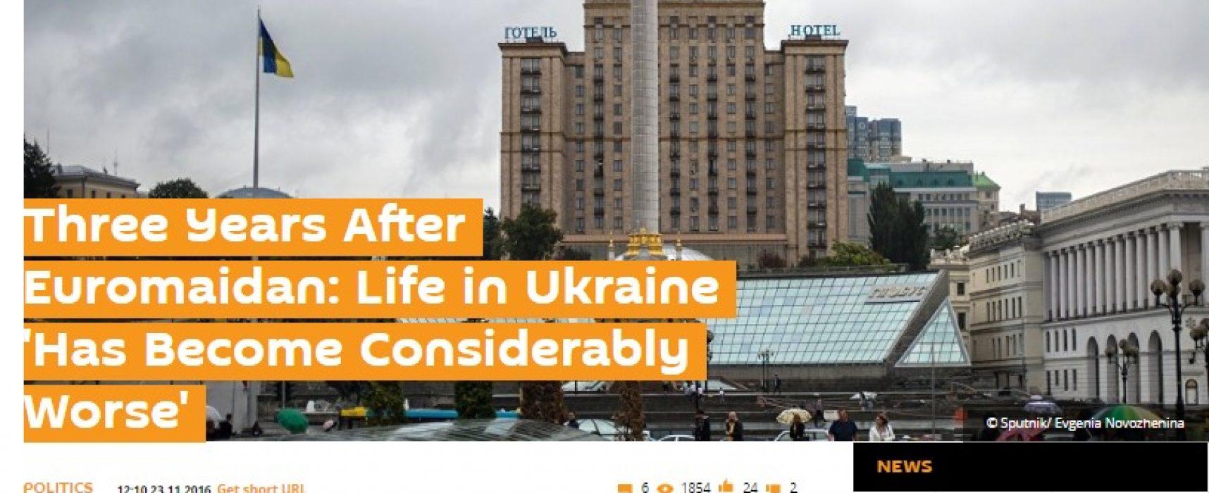 Russisch persbureau Sputnik: leven in Oekraïne slechter dan ooit