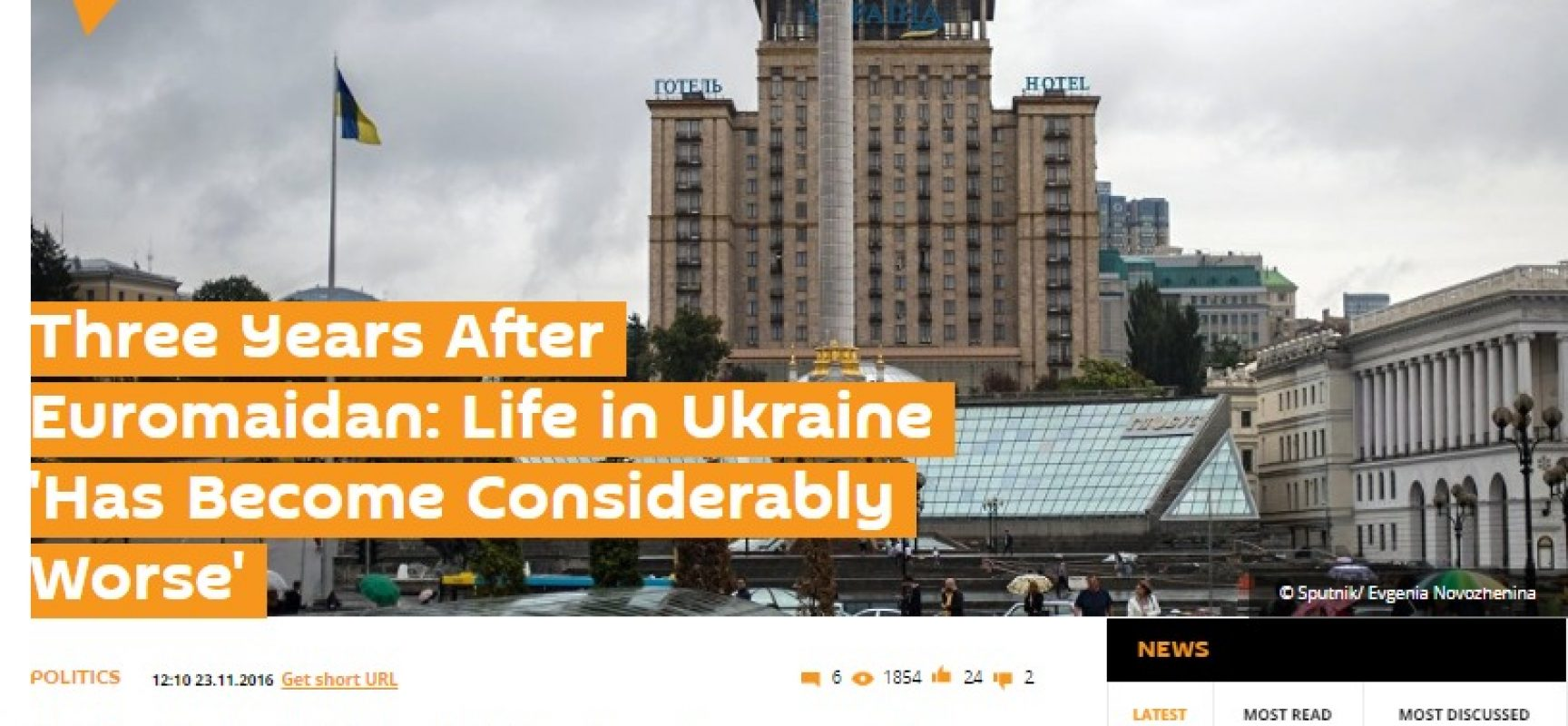 Sputnik nuovo Fake sulle riforme in Ucraina