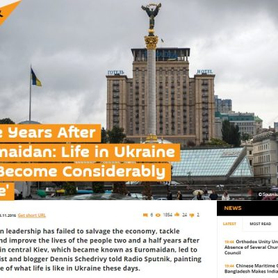 Russia's Sputnik Claims Life in Ukraine Worse than Ever