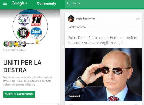 Fake : Putin. Donati 100 miliardi di Euro per mettere in sicurezza le case degli italiani