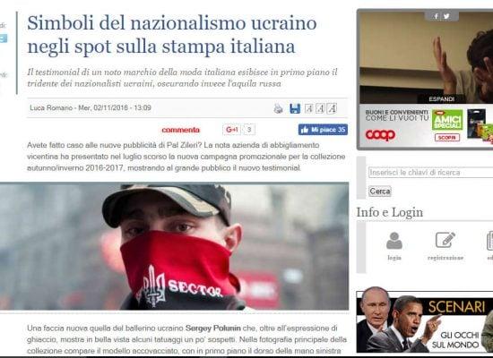 Fake del Giornale – Polunin nazista ucraino