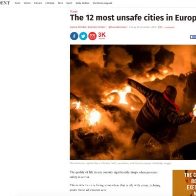 Fake: Kiev est la ville la plus dangereuse d'Europe