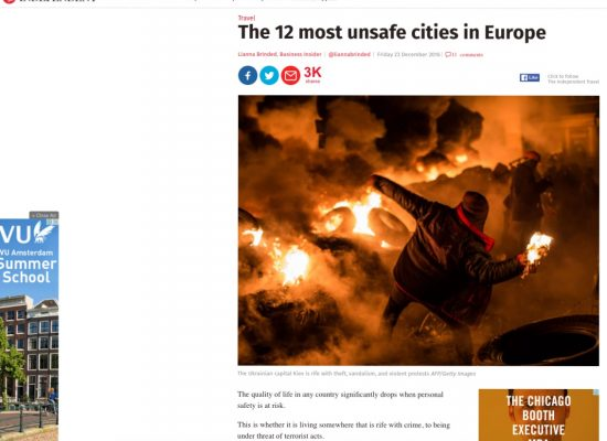 Fake: Kyiv – The Most Dangerous City in Europe