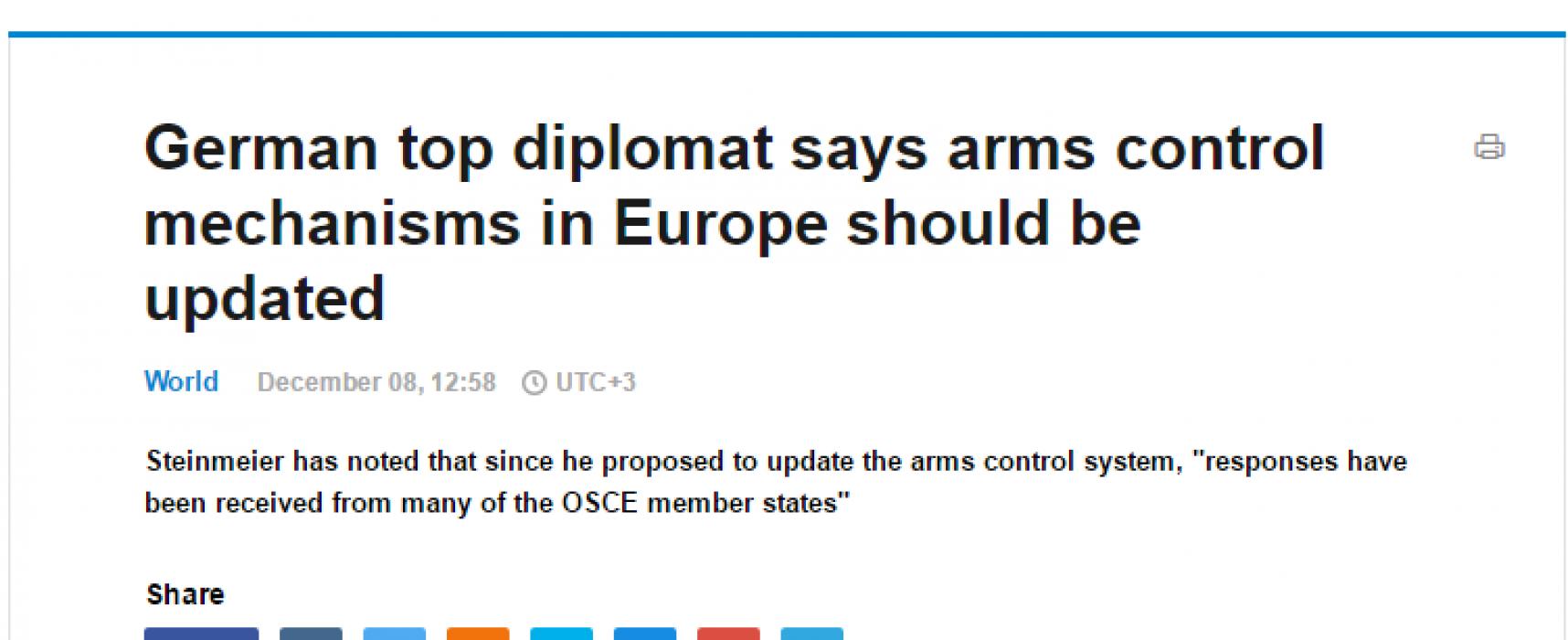ТАСС изопачи позицията на германския външен министър относно руско-украинската война в Източна Украйна