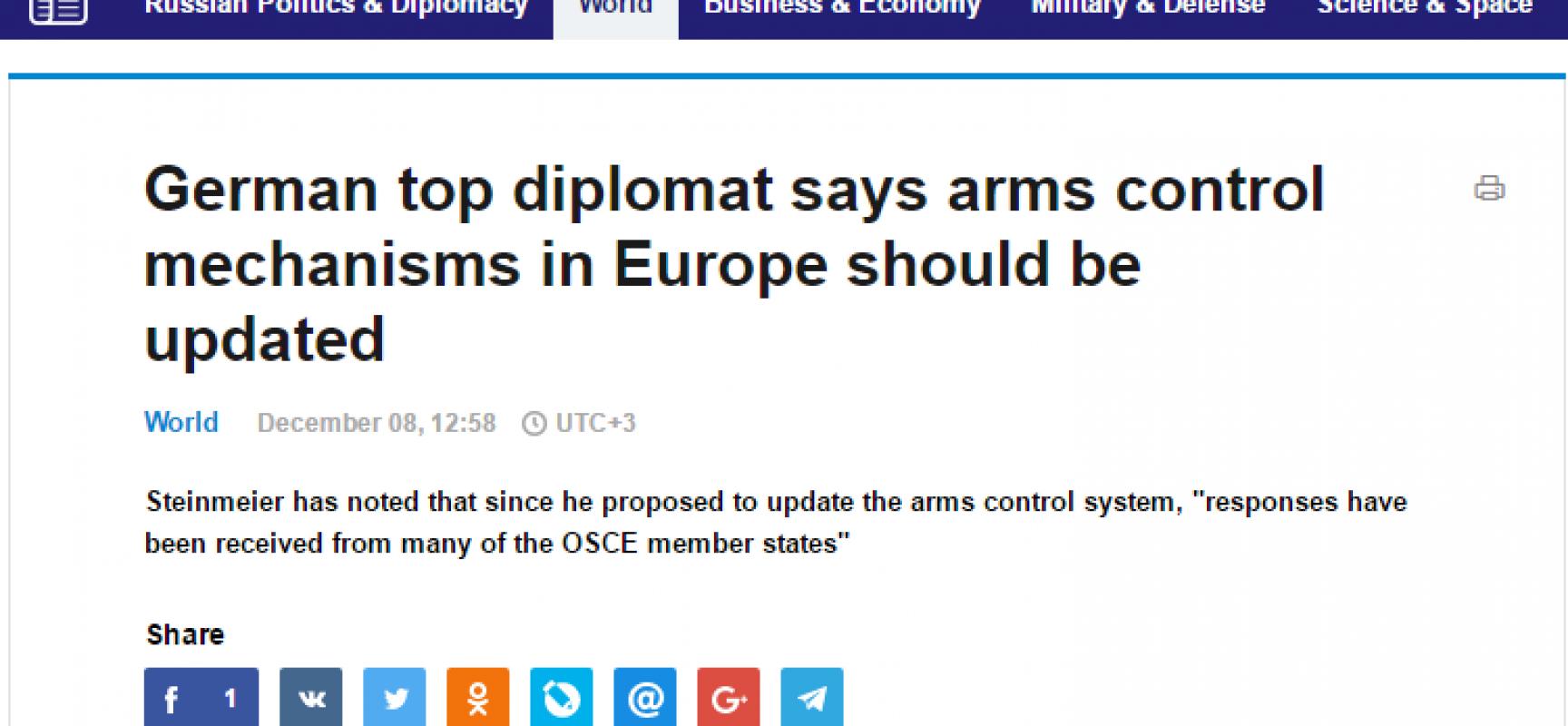 La TASS manipola le parole del Ministro degli esteri tedesco Steinmeier