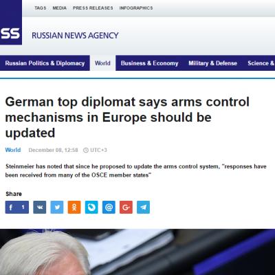 TASS manipuleert het standpunt van de Duitse minister van Buitenlandse Zaken over de oorlog in Oost-Oekraïne