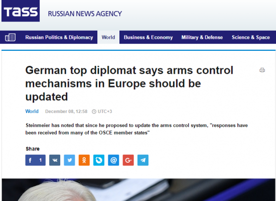 TASS Manipulates German Foreign Minister's Position on Ukraine-Russia war in Eastern Ukraine