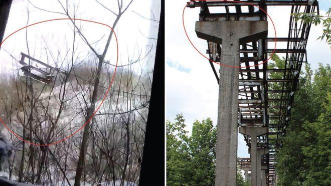 izolyatsia Image caption Окна, из которых стреляли ряженые игиловцы (слева), выходят на трубопровод бывшего завода изоляционных материалов