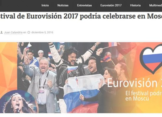 Fake: Eurovision to Be Moved to Moscow