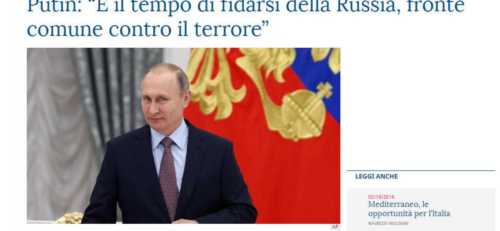 La Stampa e la strana lettera di Putin, articolo dettato da chi ?