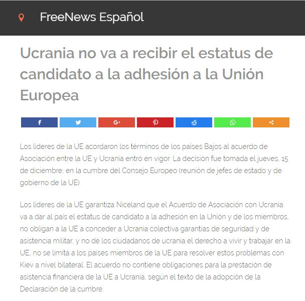 Captura de pantalla de FreeNews