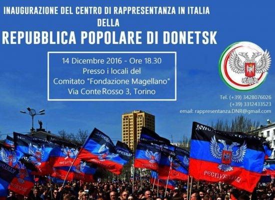 """V Itálii se otevřelo """"zastupitelství"""" Doněcké lidové republiky"""