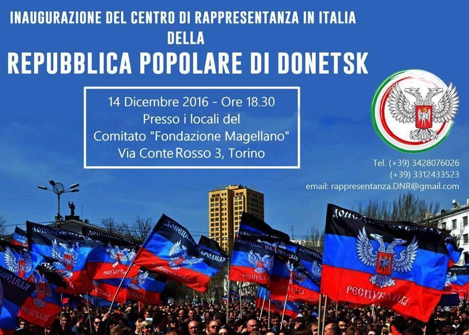 Rappresentanza DNR a Torino