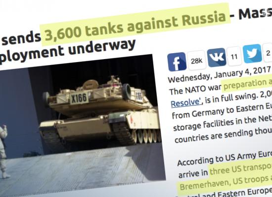 Three thousand fake tanks