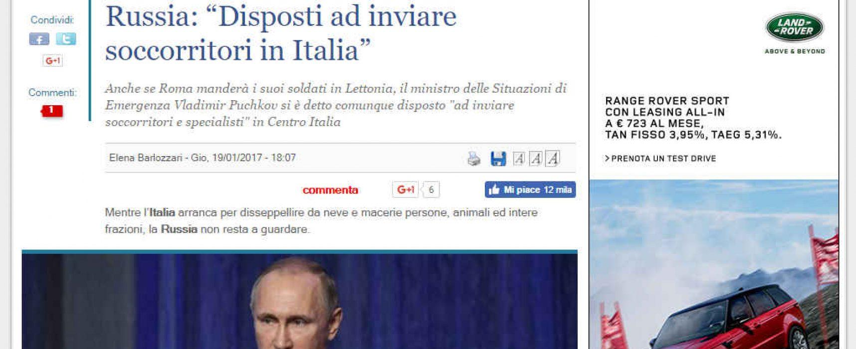 Gli sciacalli sempre pronti a sfruttare la tragedia del terremoto in Italia