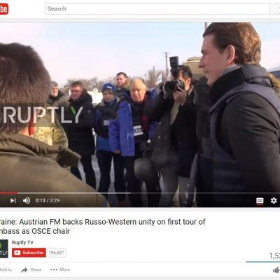 Fake:  Le ministre des Affaires étrangères d'Autriche, Sebastian Kurz, s'est exprimé au sujet de «l'union de l'Occident et de la Russie»