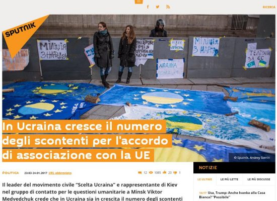 Fake : In Ucraina crescono gli scontenti dell'Europa