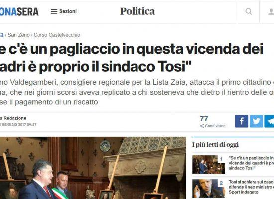 Verona revoca la cittadinanza onoraria al Presidente ucraino Poroshenko