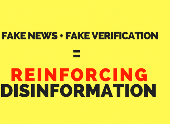 A fake fake news checker