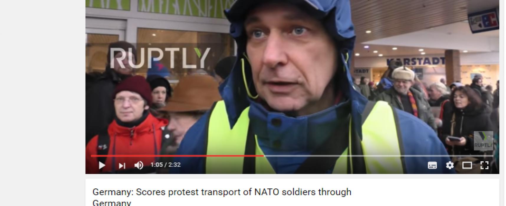 Фейк: тысячи жителей Германии вышли на протест против НАТО