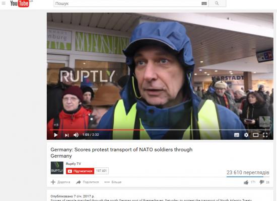 Falso: Miles de alemanes participaron en la protesta contra la OTAN
