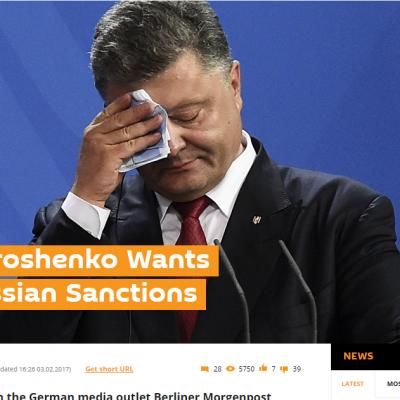 Fake: Poroschenko fordert Ende der Sanktionen gegen Russland