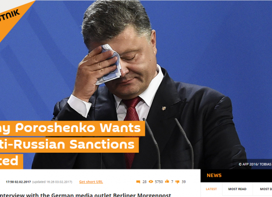 Fake: Poroshenko Calls for Ending Russia Sanctions