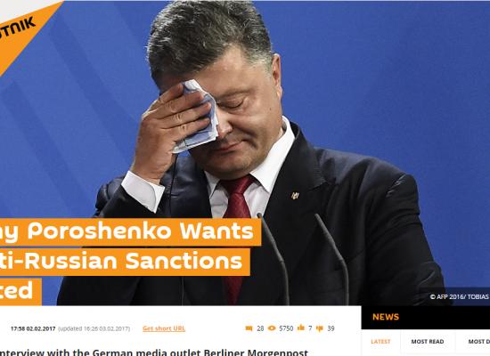 Fake : Ucraina, il Presidente Poroshenko chiede il ritiro delle sanzioni alla Russia