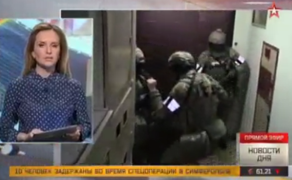 Russian TV shows fake 'anti-terror operation' to hide