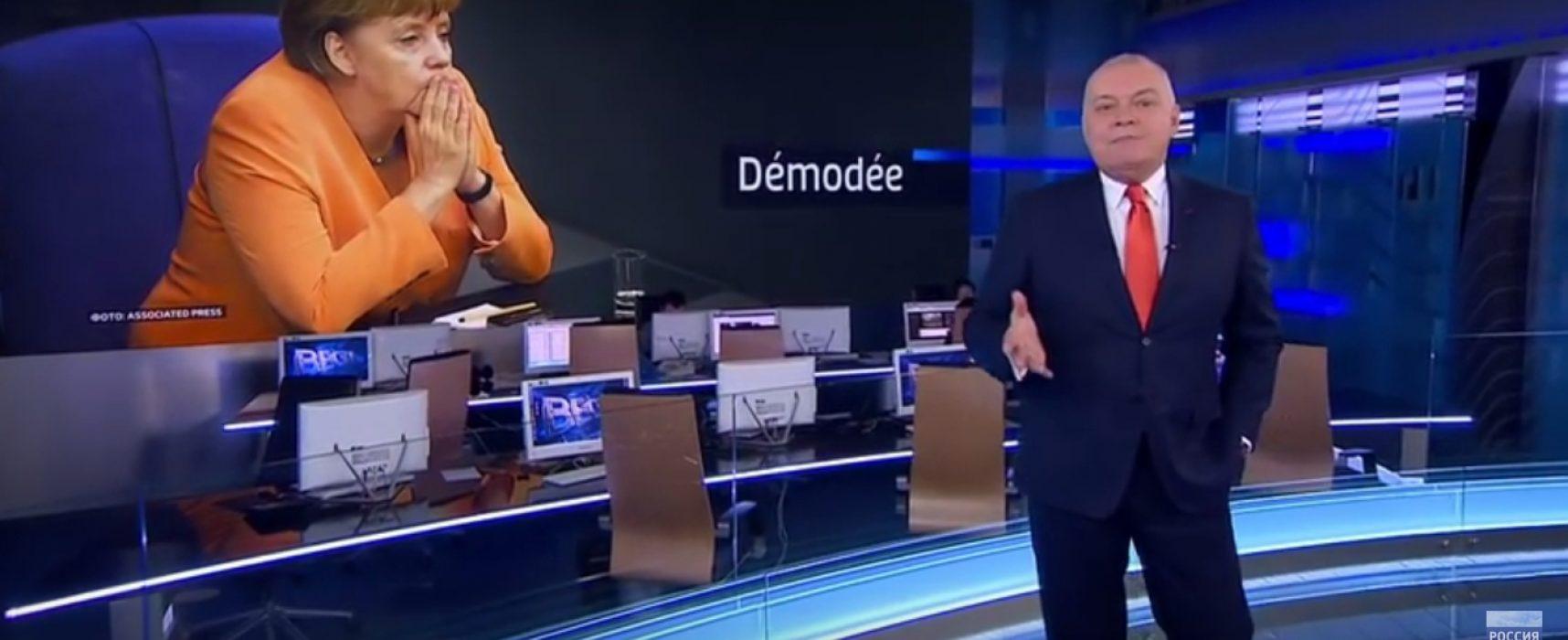 """Russisches Staatsfernsehen attackiert Angela Merkel als """"aus der Mode gekommen"""""""