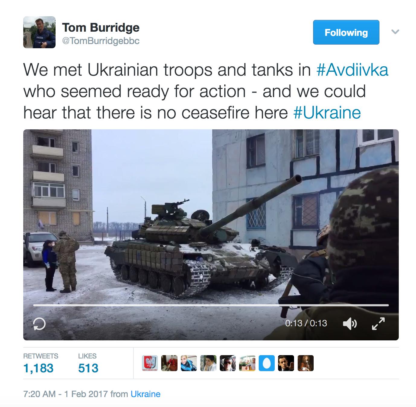Лавров счел бесполезным взывать ксовести украинских властей