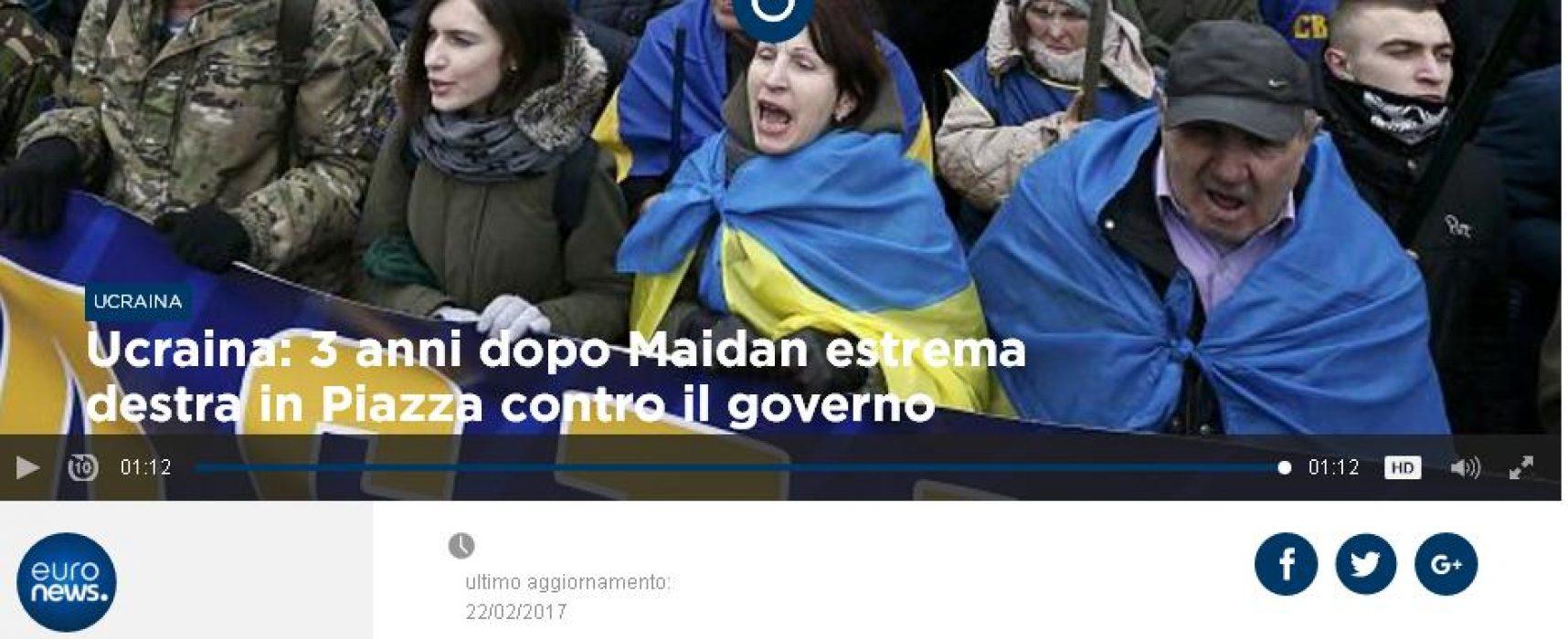 Fake : Euronews, Nazisti a Kiev per il terzo anniversario di Maidan