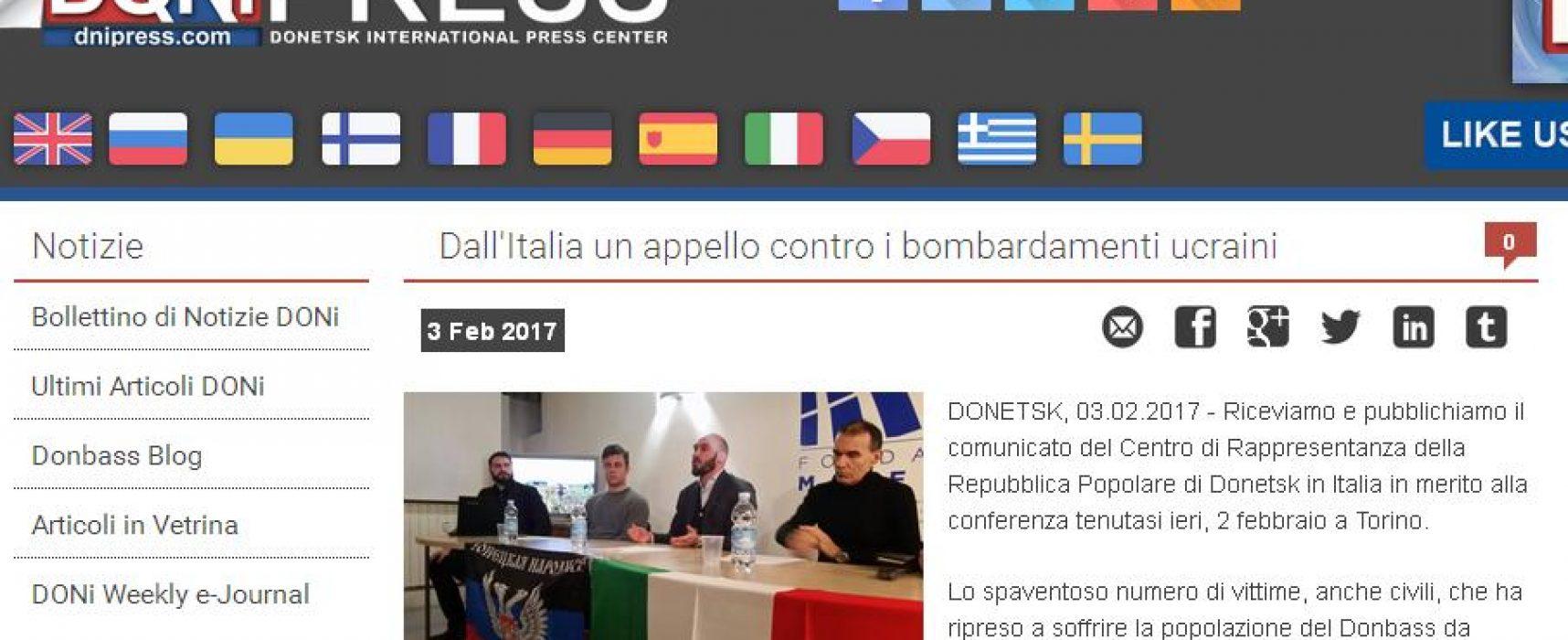 Consolato fake DNR di Torino rilancia la propaganda russa in Italia