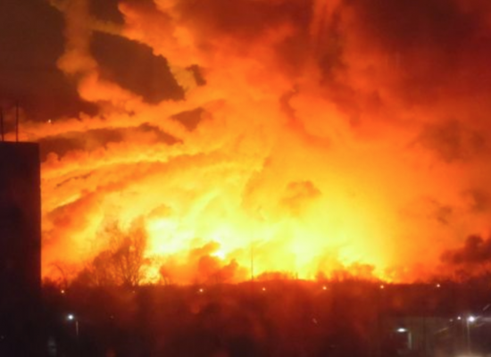 Tens of Thousands Evacuated in Ukrainian Arms Depot Explosion