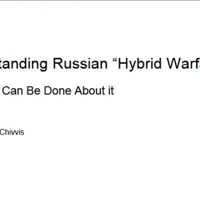 """Den russischen """"Hybridkrieg"""" verstehen und ihn begegnen"""