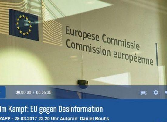NDR-ZAPP: Im Kampf: EU gegen Desinformation