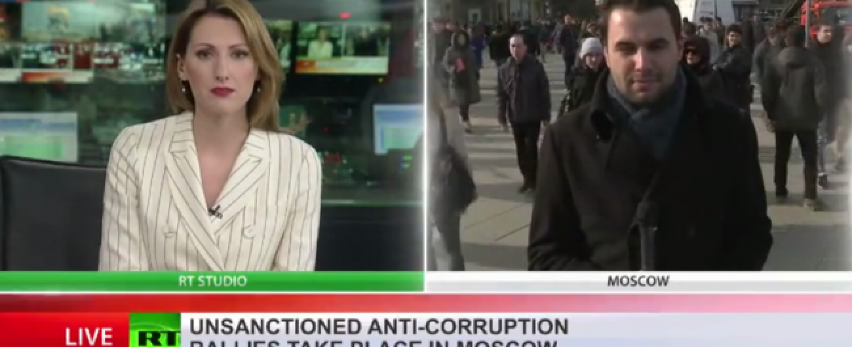 How does Russian propaganda cover the Russia protests? It's awkward