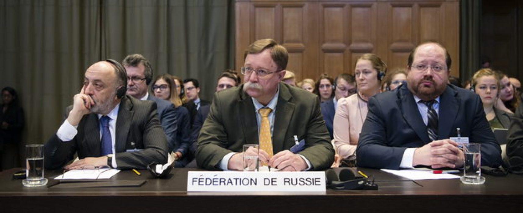 En la CIJ los rusos se apoyaron en las viejas falacias