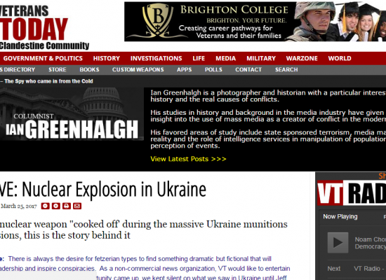 Fake: Nuclear Explosion in Ukraine