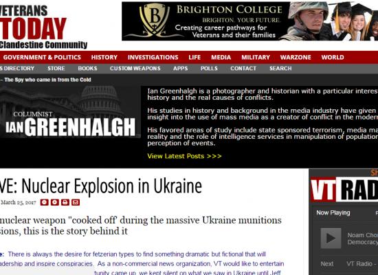 Falso: Explosión nuclear en Ucrania