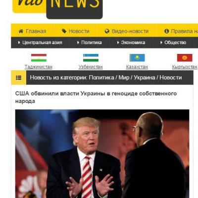 Fake: USA obvinily Ukrajinu z genocidy vlastního národa