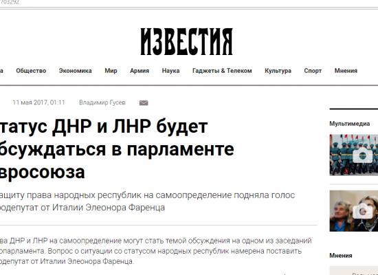 Fake: Evropský parlament plánuje uznat nezávislost Doněcké a Luhanské lidové republiky