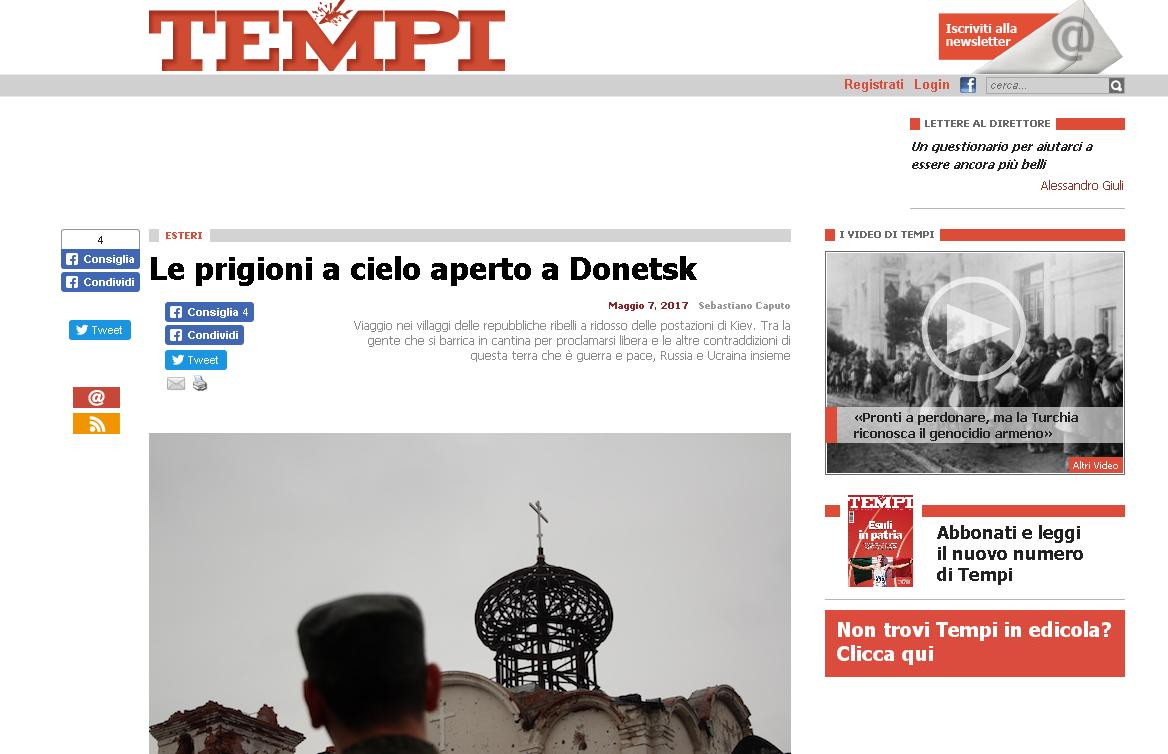 Le prigioni a cielo aperto a Donetsk