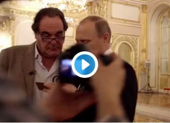 Putin showed Oliver Stone a video where Russia's Air Force supposedly attacked terrorists in Syria. It was actually footage of Americans fighting the Taliban in Afghanistan