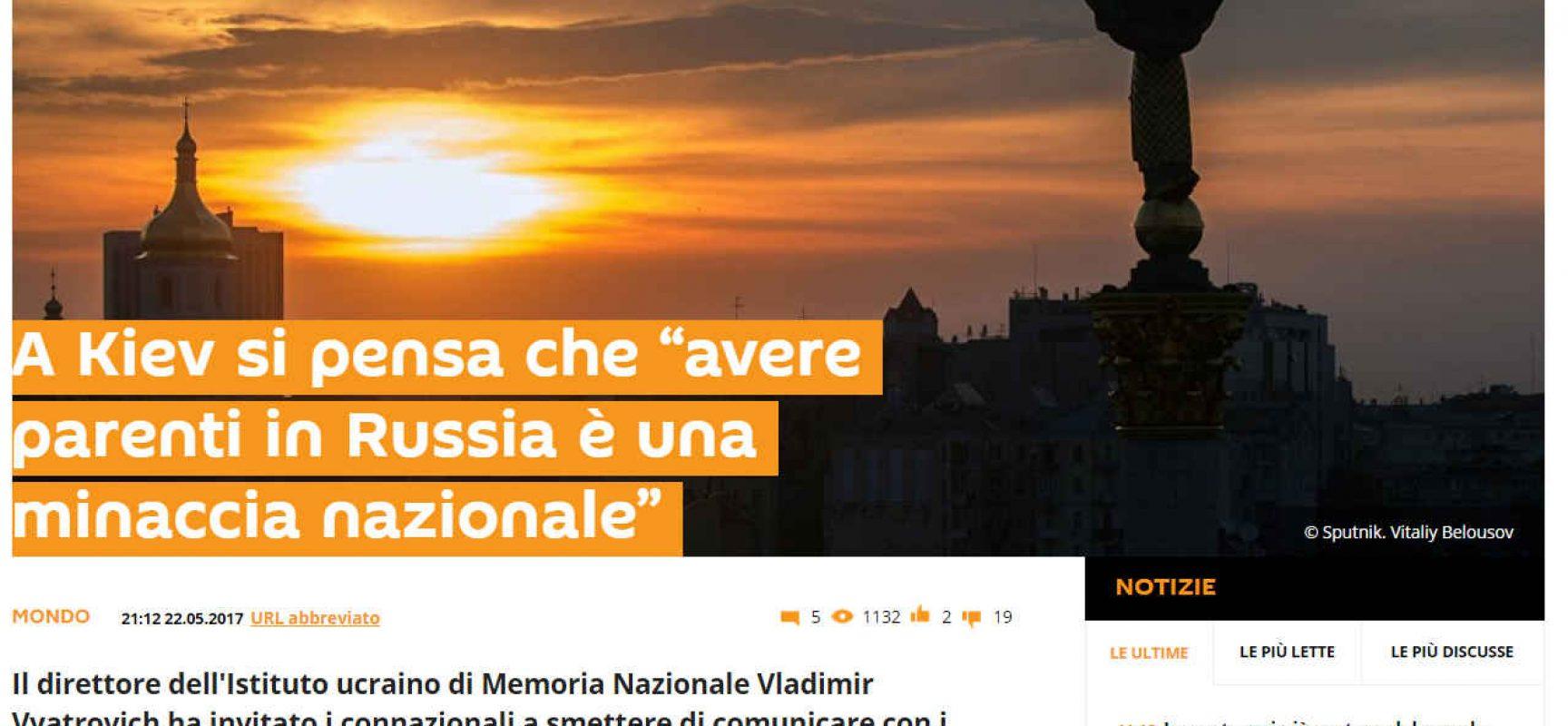 Fake: Lo storico Viatrovich invita a troncare tutti i rapporti con i parenti dalla Russia