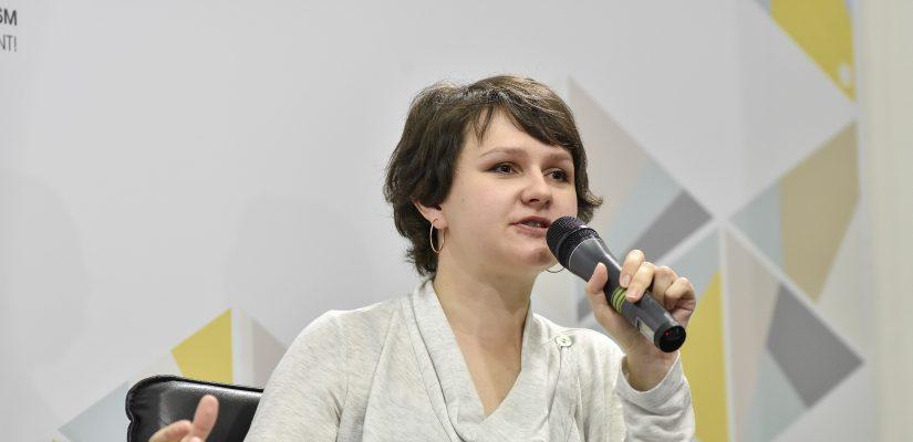 Daria Orlova, stellvertretender Direktor der Mohyla School of Journalism für Forschung